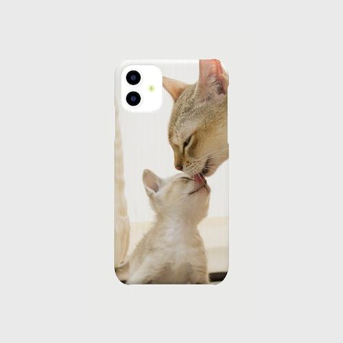 シンガプーラの子猫、iphoneスマートフォンケース【送料無料】