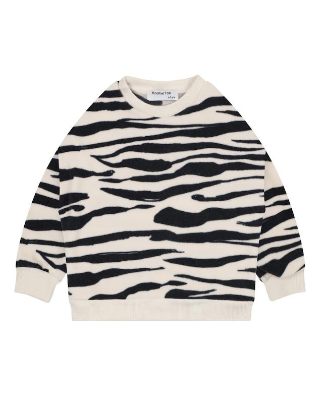 Another Fox / Zebra Polar Fleece Kids Sweatshirt 1-2y〜7-8y
