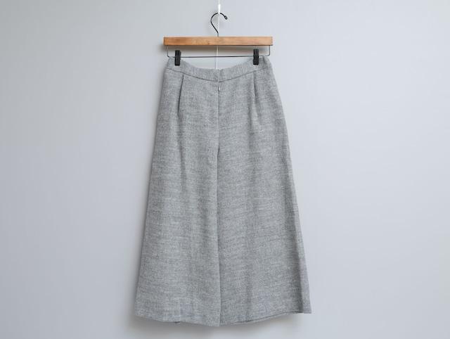 リネンウール綾織りのキュロットパンツ