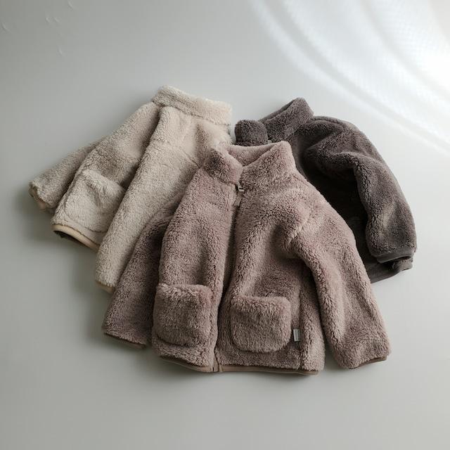 【即納】fluffy fleece jacket〔fluffyフリースジャケット〕 here i am