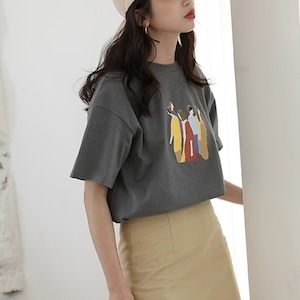 Woman design T-shirt(シャツ)a-349