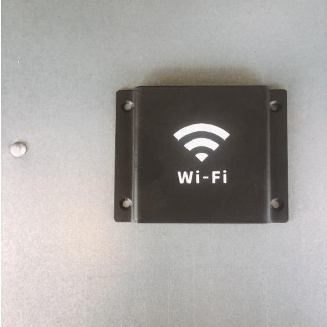 ブラックアイアン レターデザインプレート Wi-fi