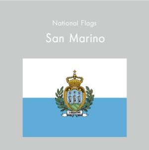 国旗ステッカー サンマリノ