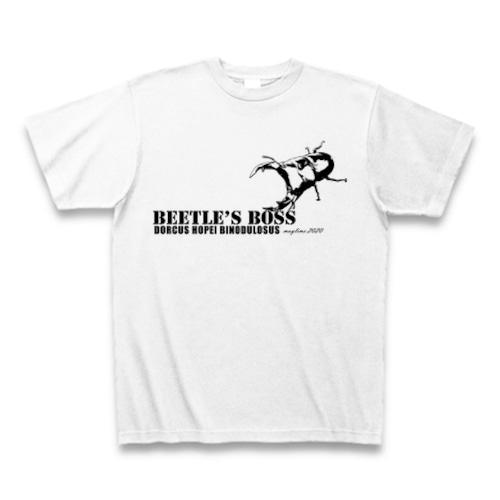 国産オオクワガタ Tシャツ -maylime- オリジナルデザイン ホワイト