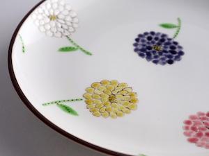 彩花 7寸皿