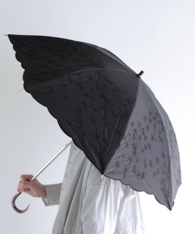 【フェンネル花刺繍】晴雨兼用日傘 (ELS48)