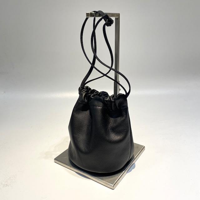 MORMYRUS【モルミルス】MORMYRUS Leather kinchaku (M−088 COL:BLACK)