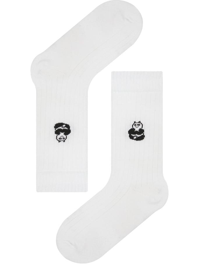 【inapsquare】rib socks PANDA