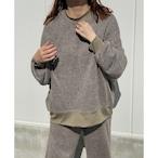 【RehersalL】ramie knit pullover(olive) /【リハーズオール】ラミーニットプルオーバー(オリーブ)