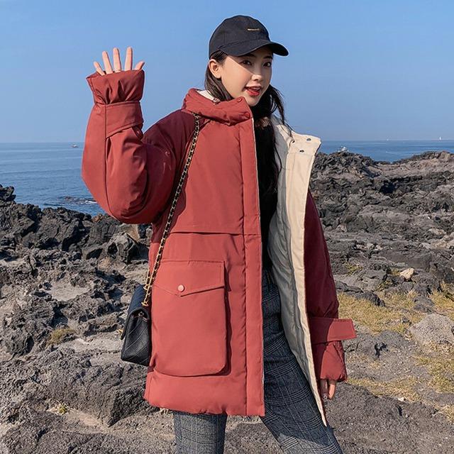 【アウター】無地カジュアル韓国系おしゃれダウンコート43205040