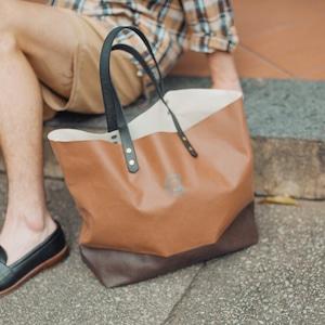 COLONY CLOTHING / ORIGINAL CANVAS TOTE BROWN