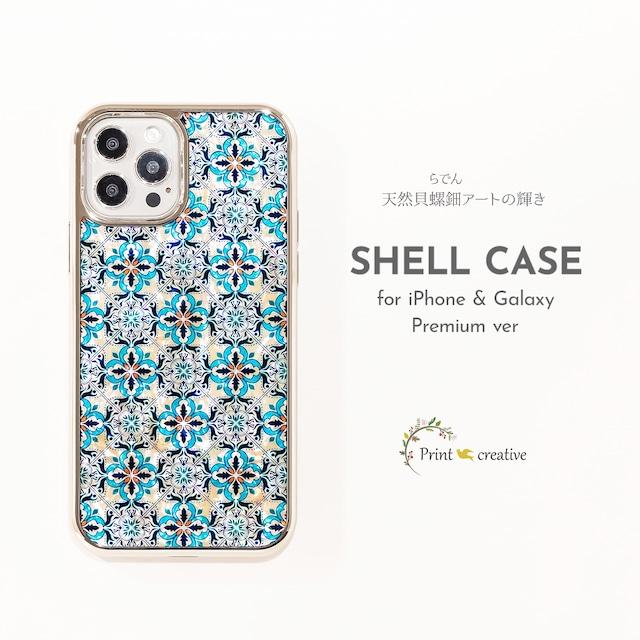 【iPhone13対応】天然貝シェル★チェインズ(iPhoneプレミアムケース)|螺鈿アート