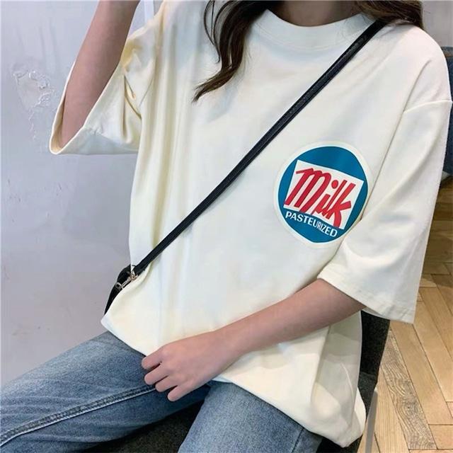韓国デザインmikロゴビッグTシャツ(L21042-075)