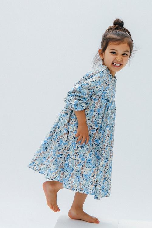 ETERNAL FLOWER DRESS BLUE