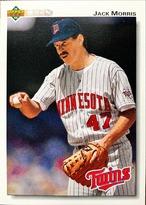 MLBカード 92UPPERDECK Jack Morris #315 TWINS