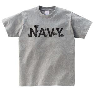 NAVY Tシャツ メンズ レディース 半袖 海 魚 ゆったり トップス 白 30代 40代 ペアルック プレゼント 大きいサイズ 綿100% 160 S M L XL