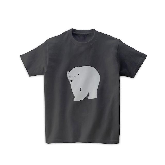 動物Tシャツ-シロクマ(チャコール)