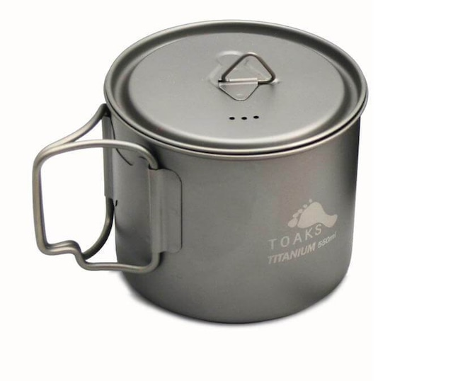 新品 Toaks Titanium Cups 450ml with rid
