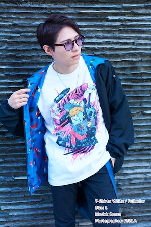 [White / Fullcolor] Collaborative T-shirt by Kazutaka Kodaka (Tookyo Games) and jbstyle. *Use coupon code for 10% OFF