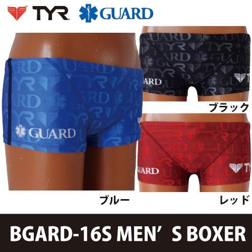 TYR×GUARD メンズ水着 ショートボクサー ロゴ総柄 bgard-16s 競泳 ブランド トライアスロン レスキュー ライフセービング