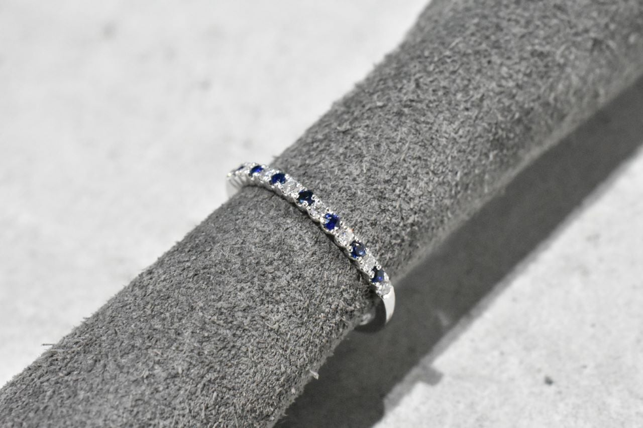 Sapphire & Diamond Ring / Pt900