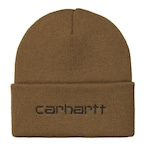 Carhartt (カーハート)SCRIPT BEANIE - Hamilton Brown / Black スクリプトビーニー