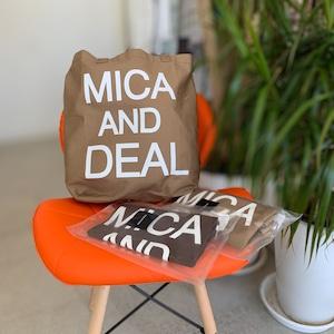 MICA&DEAL (マイカ&ディール) ロゴコットンバッグ M00E015GD