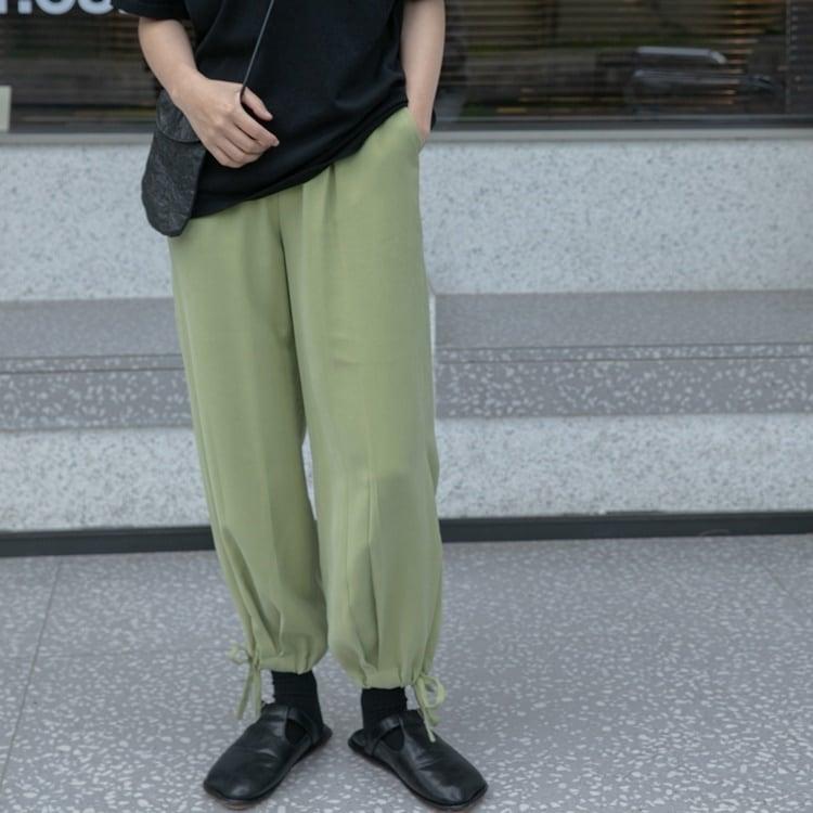 Hem strap light pants(ヘムストラップライトパンツ)b-241