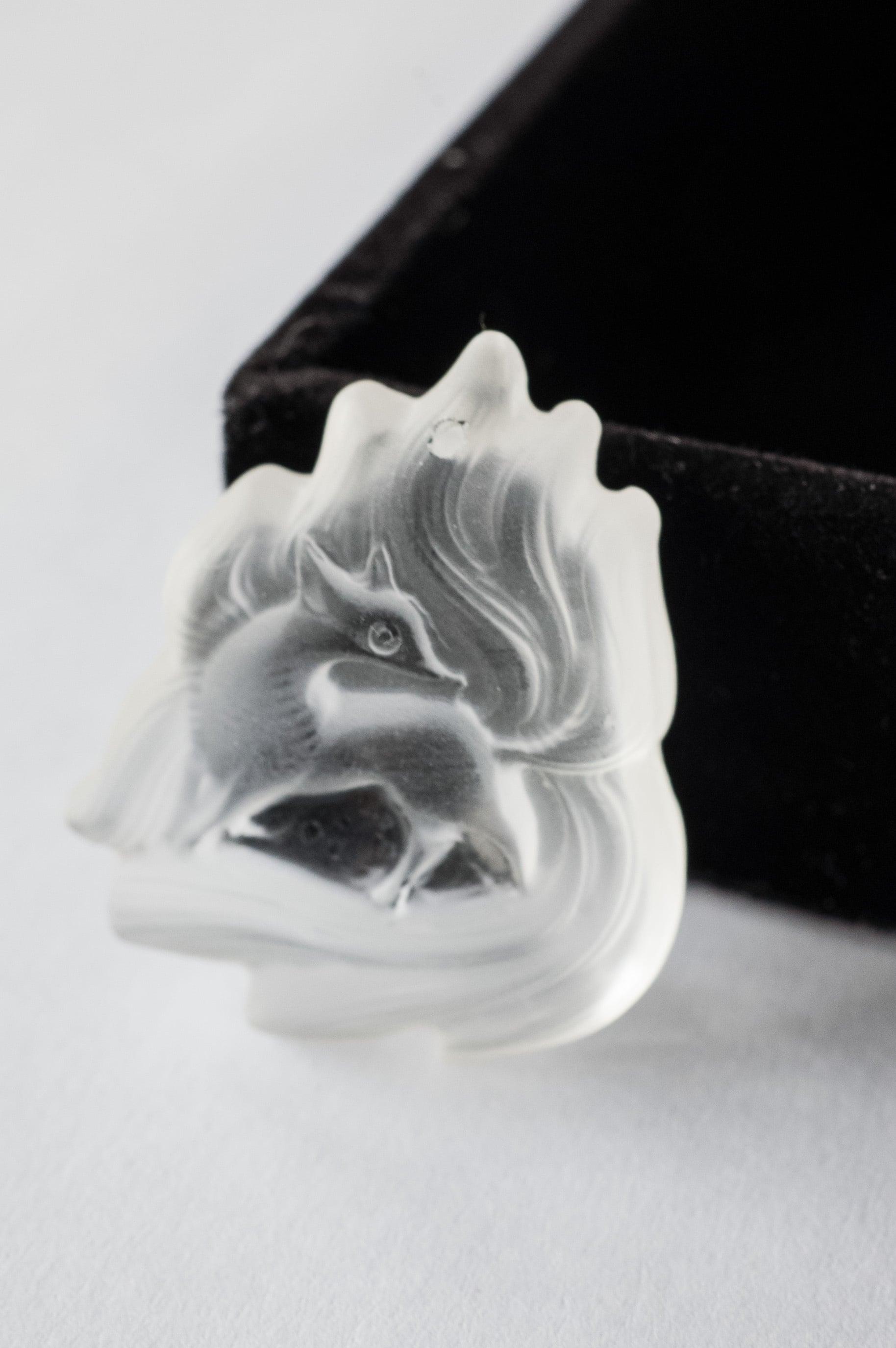 Carving Quartz Pendant  Ninetails Fox
