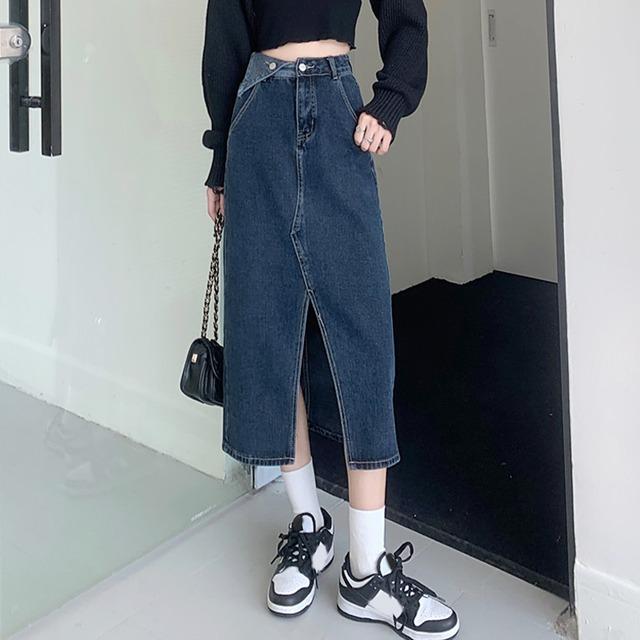 【ボトムス】ファッション膝下丈ハイウエストAラインスカート51942159