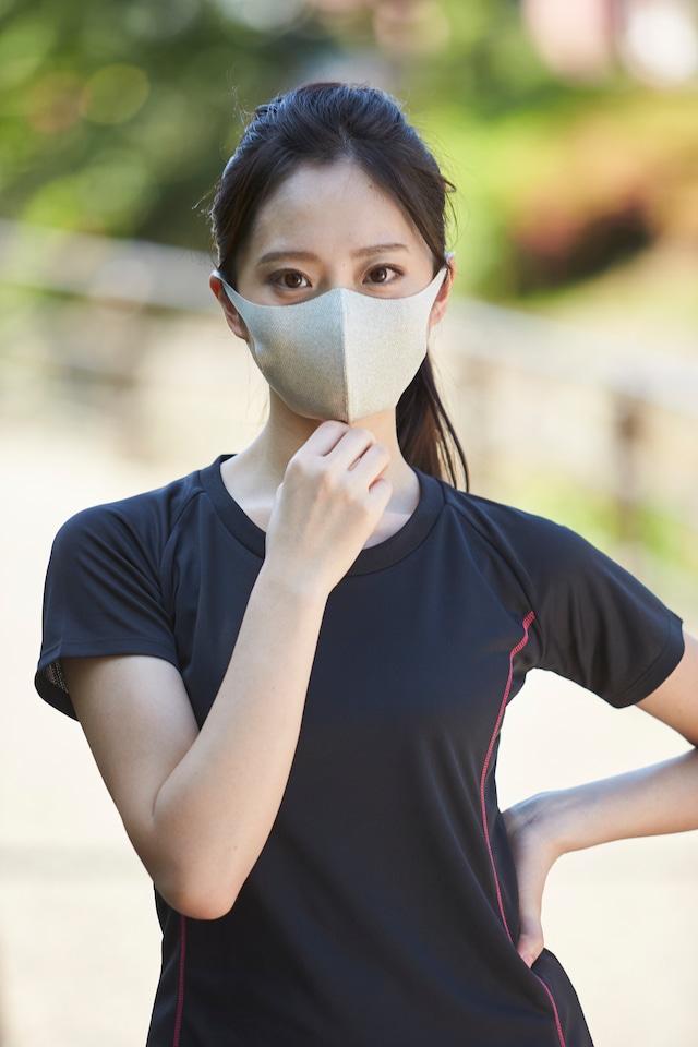 メッシュ「クール♥」Sサイズマスク  無地2枚セット  接触冷感・UVカット・吸汗速乾 #109