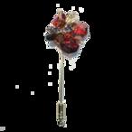 Stardust pin-brooch (スターダストピンブローチ)EMU-021-03  レッド