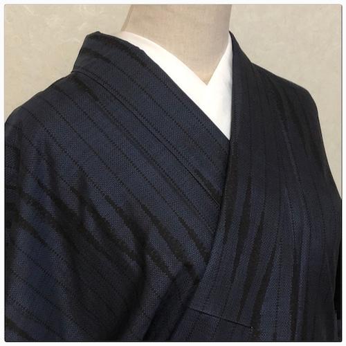 ★美品 大島紬 松屋謹製 藍染 裄63 Mサイズ ★ 2648