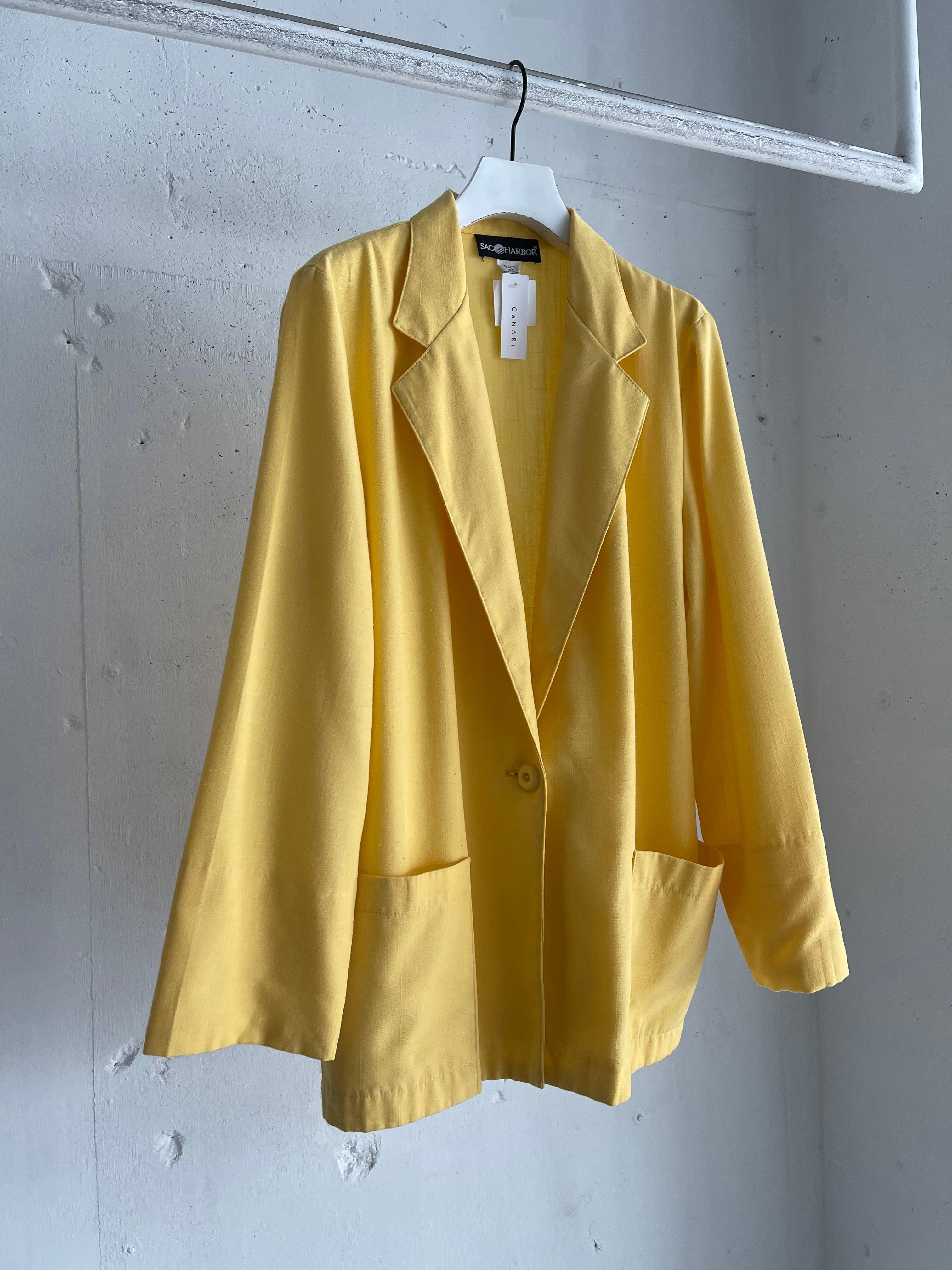 """""""SAG HARBOR"""" vintage light jacket - yellow -"""