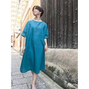 檜扇/hiougi オールシーズン使えるシンプルな麻100%ワンピース【image8787】