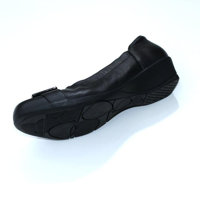 SHOEL(シュール) 本革  ウェッジパンプス  5791 ブラック シルバー