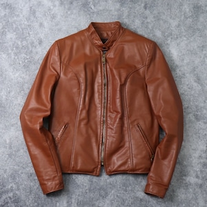 70's【Mint condition!!!】BROOKS Single Riders Leather jacket 70年代 ミントコンディション ブルックス シングル ライダース レザージャケット ヴィンテージ 古着 A565