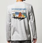 No.2020-welshcorgi-longts005  : 長袖Tシャツ 5.6oz  サーフシリーズ  WARNNING サーフボードとコーギー  NO SURF NO LIFE