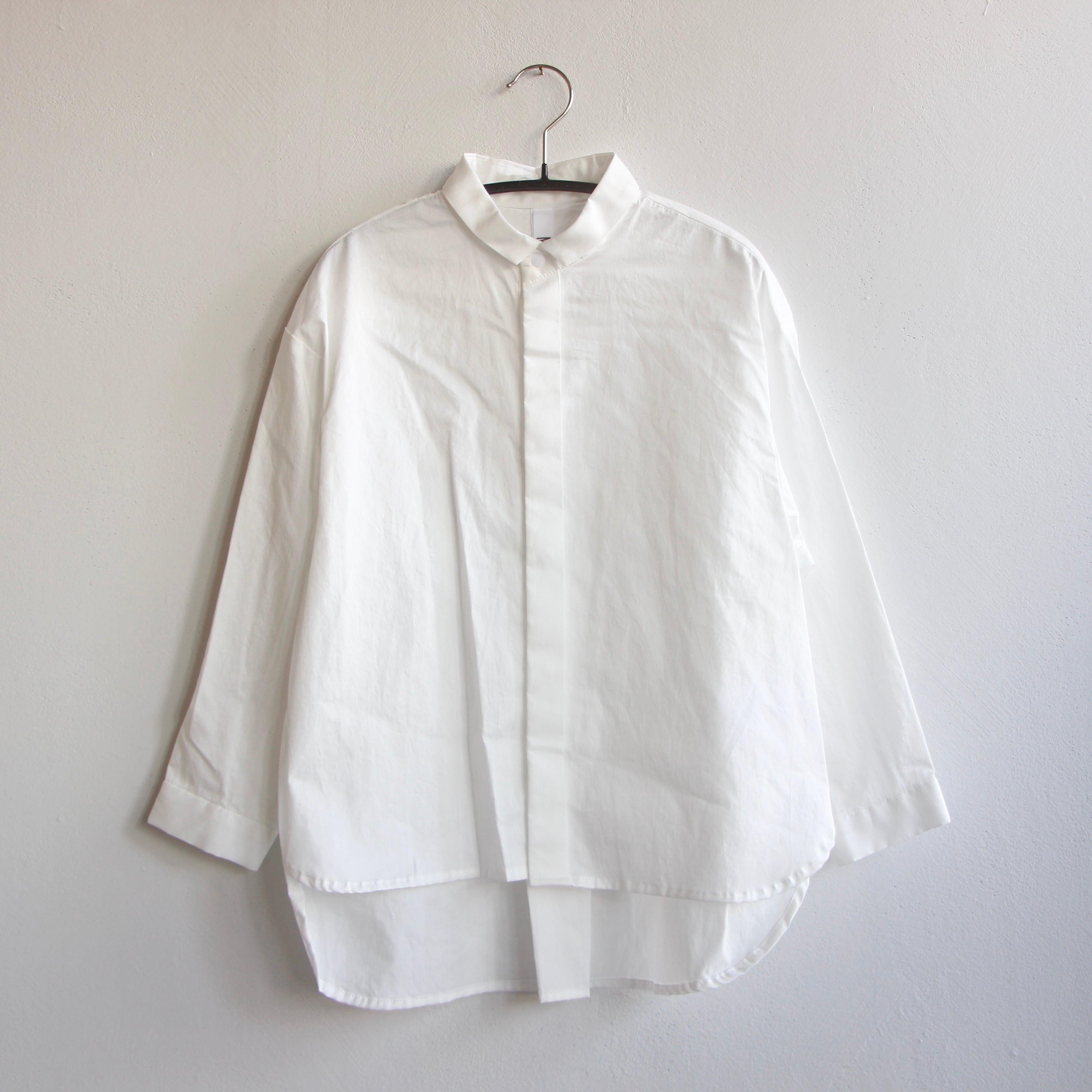 《MOUNTEN. 2021AW》80/1 washer big shirts / white