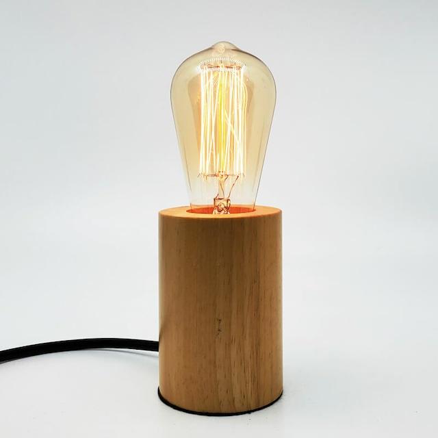 木目のテーブルランプ