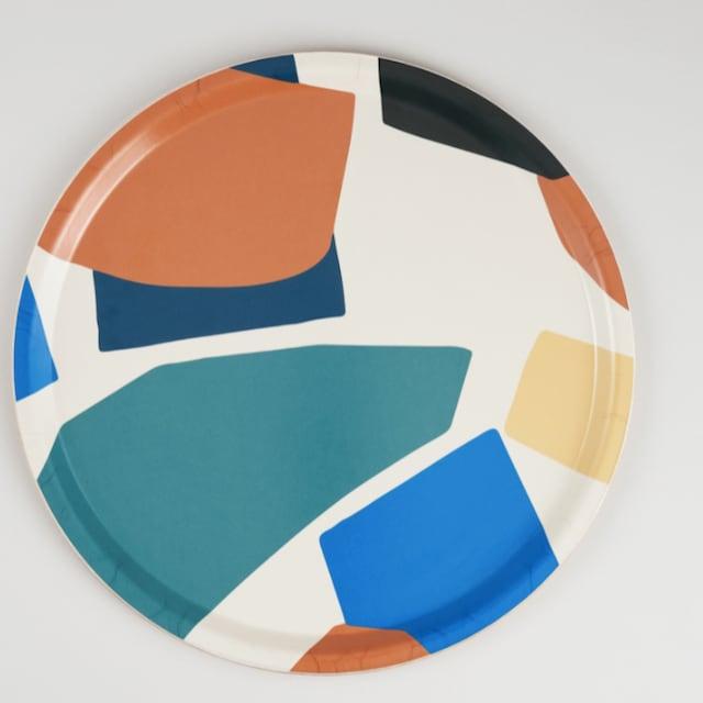 WRAP / Mosaique Round Art Tray  -Illustrated by Antti Kekki-