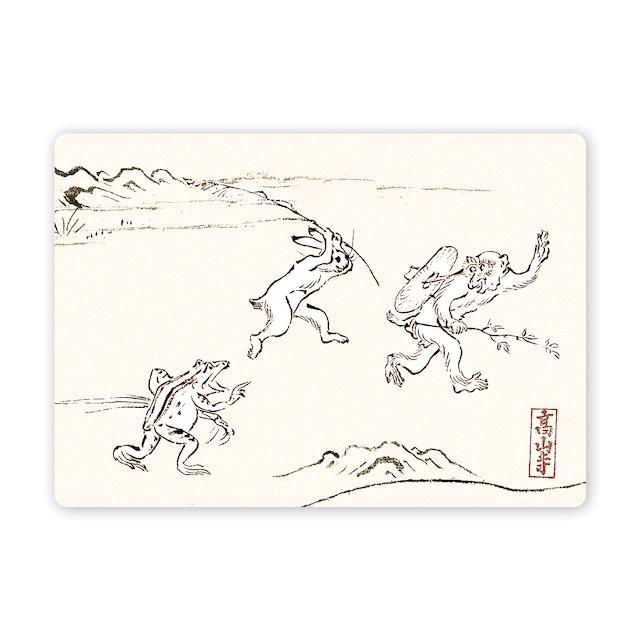 多目的カード 鳥獣戯画かけっこ