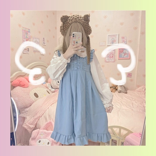 【お取り寄せ】フリル ロリィタ ジャンスカ 2色