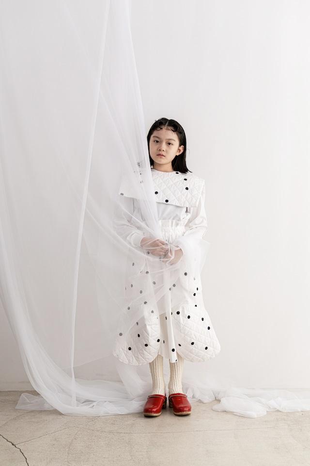 【21AW】フランキーグロウ ( frankygrow )QUILTING SWITCHING SKIRT[  M / L ]white*black dots スカート