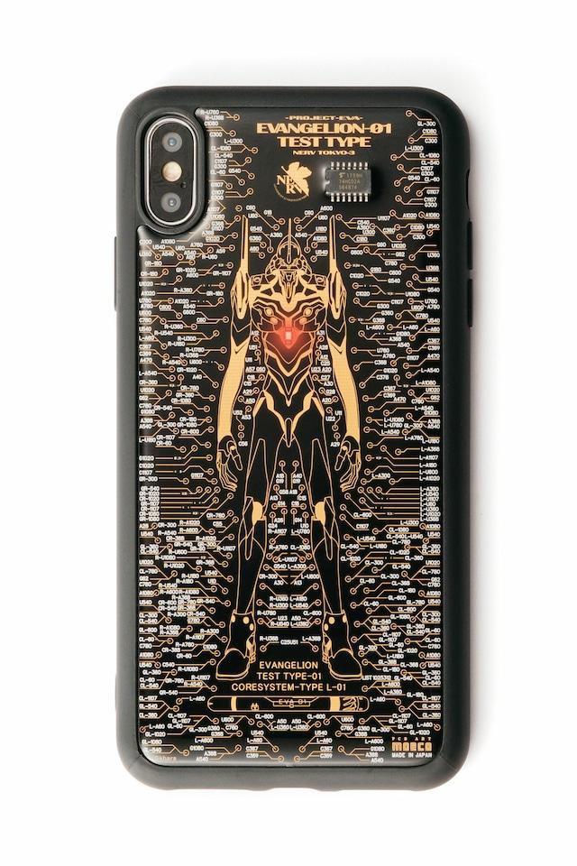 FLASH EVA01 iPhone XS Maxケース 黒【東京回路線図A5クリアファイルをプレゼント】