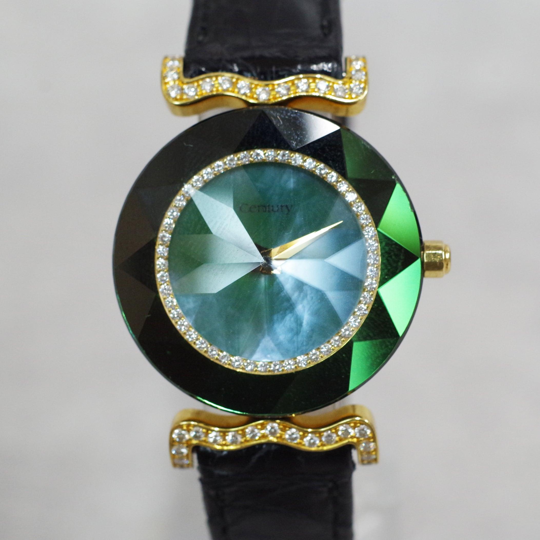 CENTURY センチュリー タイムジェム ダイヤ K18 クォーツ 腕時計 レディース