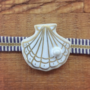 真珠貝(帯留・ブローチ)