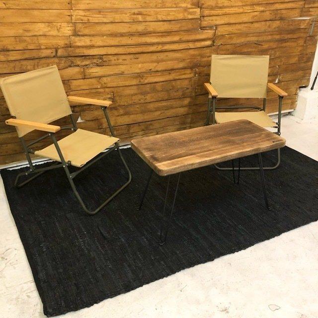 TOPANGA Homefurnishing リサイクルレザーラグマット 140×200cm ブラック