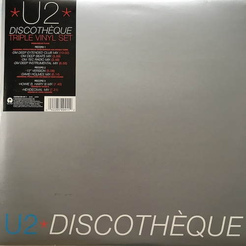 【12inchx3・英盤】U2 / Discothèque Triple Vinyl Set