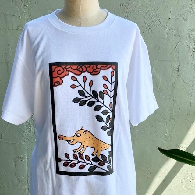 【巨匠動物園】花札イノTシャツ